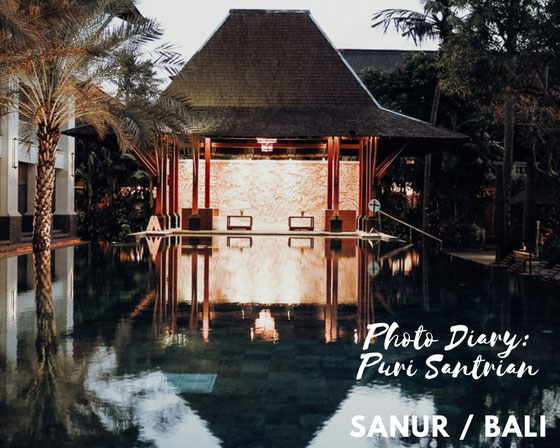 Puri Santrian resort by night, Sanur, Bali © Melanie Klien @Mafambani