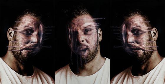 """""""Triptychon diffluence 7"""", Fotografie, Lack, Maße variabel, 2016"""