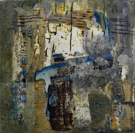 Collage, Mischtechnik, 30x30