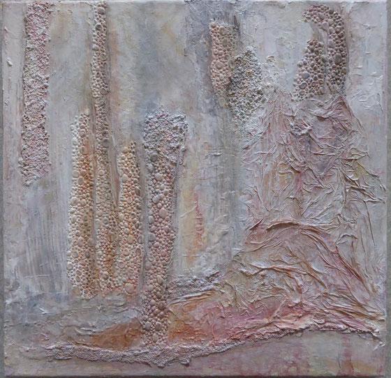 Collage, Mischtechnik, 40x40