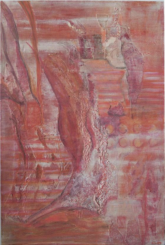 Collage, Mischtechnik, 40x60 - verkauft