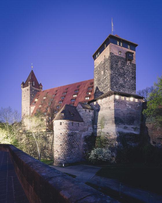 Nürnberg Burg (Copyright Martin Schmidt, Fotograf für Schwarz-Weiß Fine-Art Architektur- und Landschaftsfotografie aus Nürnberg)
