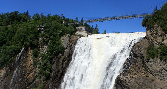 Quebec Montmorency Waterfall