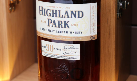 Highland Park Single Malt 30 Jahre - Foto Ralf Zindel