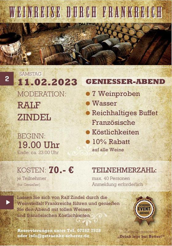Rum Tasting mit Ralf Zindel bei Getränke Scherer in Eppingen.