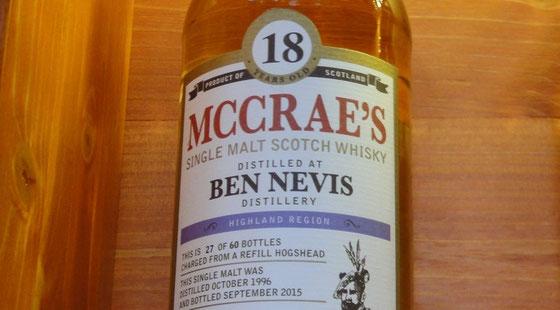 Ben Nevis McCrae`s Single Casks 18 Jahre von Hunter Laing - Ralf Zindel