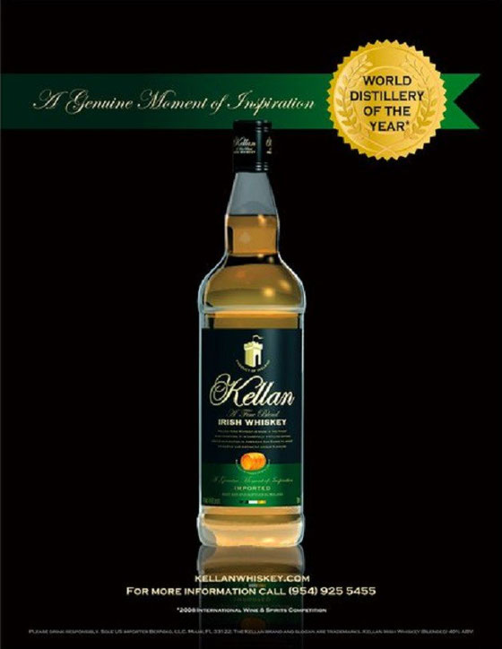 Kellan Irish Whiskey - Foto vom Berniko aus dem Jahr 2010, als Cooley Distiller of the Year wurde