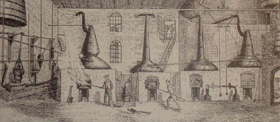 Bowmore Stillhouse um 1880 - Bild von Alfred Barnard
