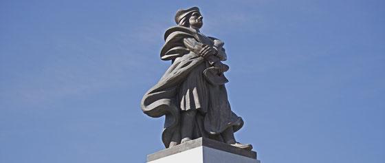 auf seiner dritten Reise betrat Columbus in Venezuela zum ersten Mal das amerikanische Festland
