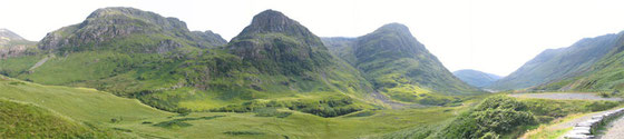 Glencoe in den westlichen Highlands