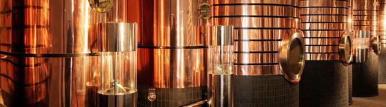 Scheibel Brennerei Neue Zeit - Destillation über Gold
