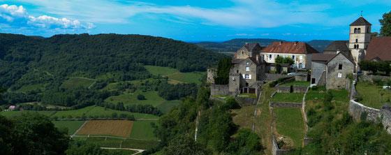 Château Chalon oberhalb von Nevy-sur-Seille