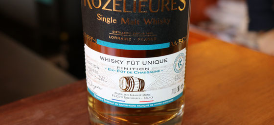 Rozelieures Single Cask Single Malt Whisky Chassagne Finish - Foto Tasting Room Mannheim