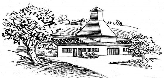 geplantes Aussehen der Black Mountain Distillerie