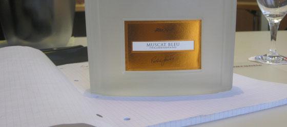 Muscat Bleu Traubenbrand aus der Brennerei Scheibel