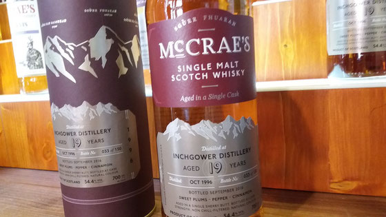 Inchgower Single Malt 19 Jahre McCrae`s Single Cask - Ralf Zindel