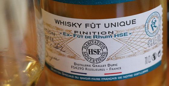 Rozelieures Single Cask Whisky Rhum HSE Finish - Foto Tasting Room Mannheim