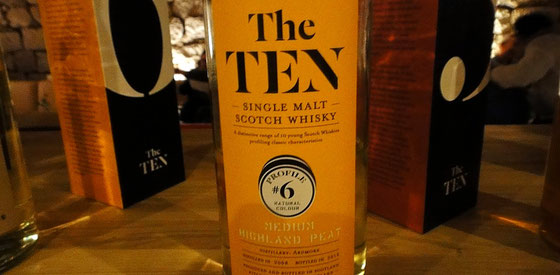 Ardmore Single Malt Whiskys aus der Serie The TEN - Foto Ralf Zindel