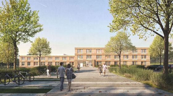 Wettbewerb Klinik für Psychiatrie und Psychotherapie Lüneburg  2018 Herr & Schnell Architekten Hamburg