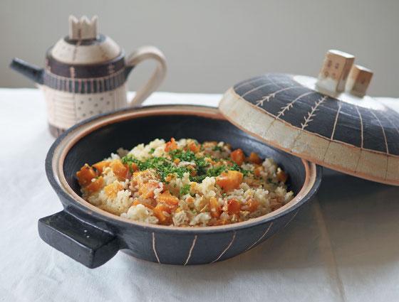 バターナッツの炊き込みご飯/土鍋大・ポット
