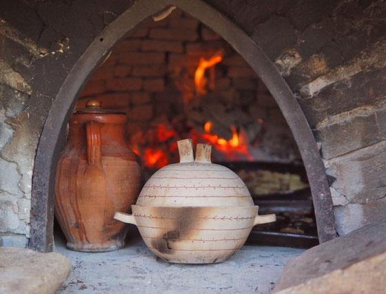 薪窯のなかで/ボローニャにて Cocciorino土鍋