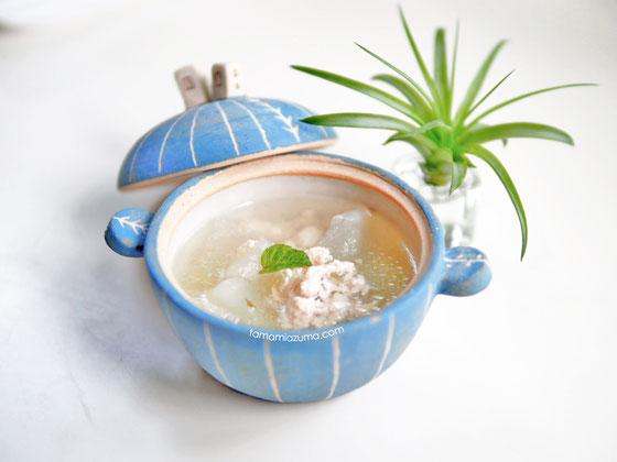 「冬瓜のとろりスープ」ミニ土鍋Cocciorino