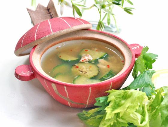 きゅうりスープ/ Cocciorinoのミニミニ土鍋