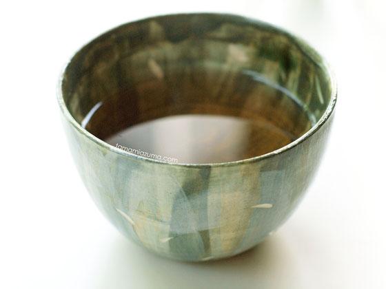「ドクダミ茶」コップ/半磁土 Cocciorino
