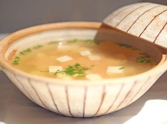 明太子豆腐スープ/土鍋 Cocciorino