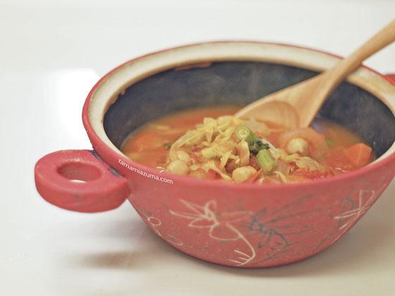 「春野菜のトマトスープ」 土鍋(中サイズ)