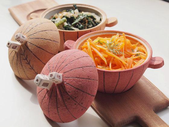 ミニ土鍋(直火使用も可、お惣菜やディップ・ジャムでも良!)