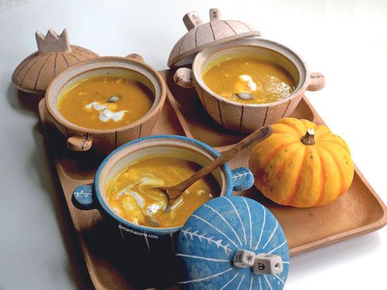 ミニミニ土鍋「かぼちゃのスープ」