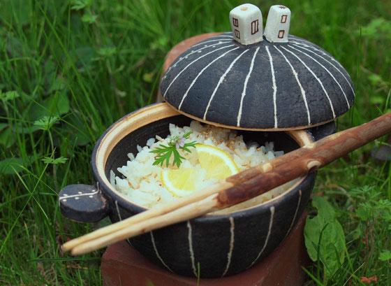 ミニ土鍋  tegame piccolo in terracotta by Cocciorino