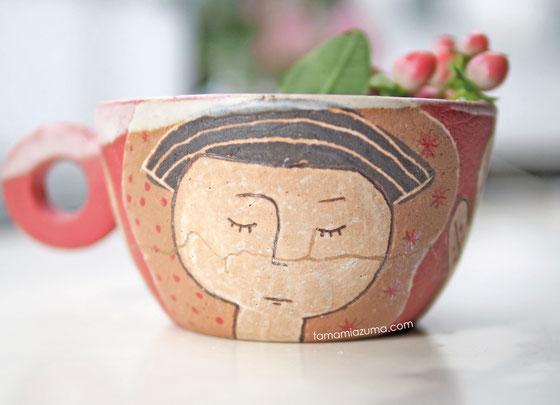 金継ぎのスープカップ/Cocciorino