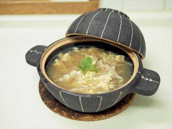 もやしな簡単スープ/Cocciorino土鍋(中サイズ)