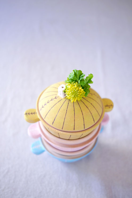 土鍋コッチョリーノと菜の花