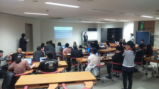 第1部「初心者向けfacebookページ作成講座」 アーリープロジェクト代表古谷誠さん