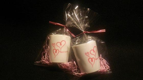 ミニお猪口 ¥600 バレンタインハート 小さくて可愛いらしいお猪口です 限定10個