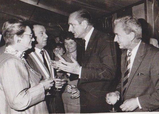 Mme Baroin, Jacques Chirac et Jacques Schweitzer