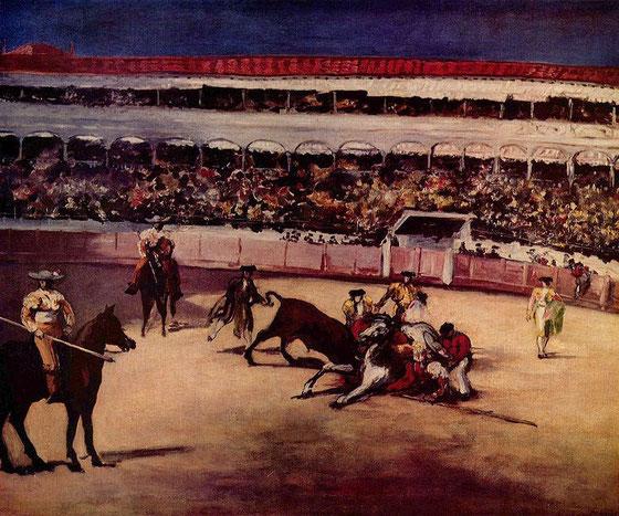 Corrida en Espagne par Edouard Manet