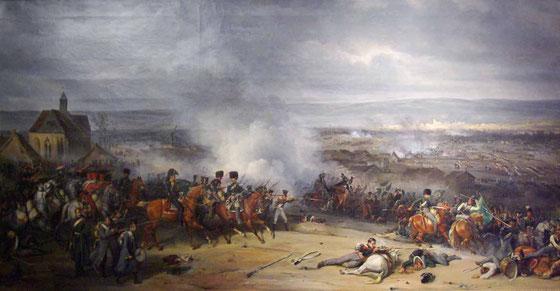 Titre : Combat de Laubressel (Troyes), le 3 mars 1814 Auteur : Langlois Jean-Charles Thème : 1er Empire Style : XIX ème Technique : Huile sur toile  Localisation : Musée de l'armée à Paris