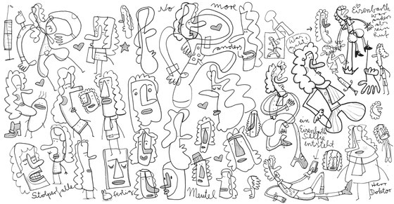 Skizze von Dr. Eisenbarth, dem Wundarzt in Hann. Münden, Illustration von Frank Schulz Art, Berlin, mit Tusche und Acryl
