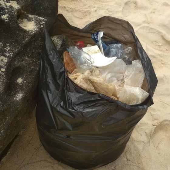 Der erste Müllsack war nach etwa 50 Metern voll
