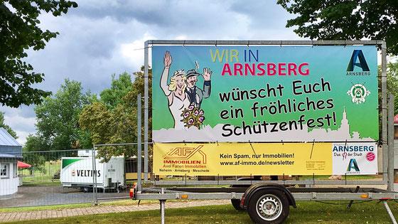 """Horrido! – Die Illustration ist auf dem Banner. ©Bild: """"WIR IN ARNSBERG"""""""