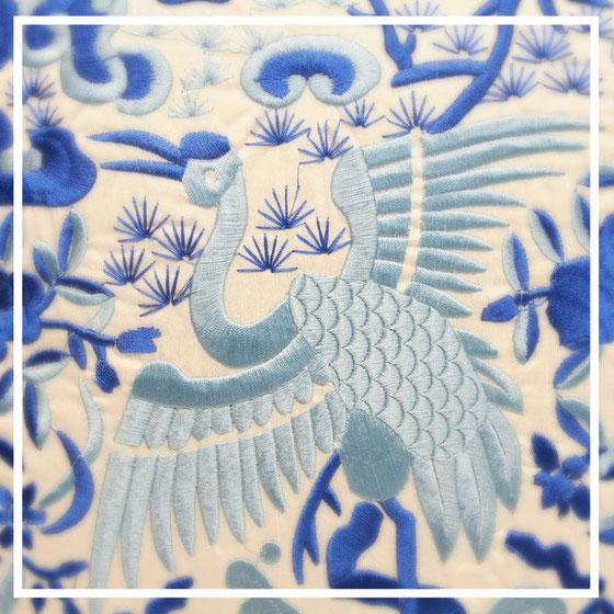 chinesische Seidenkissen