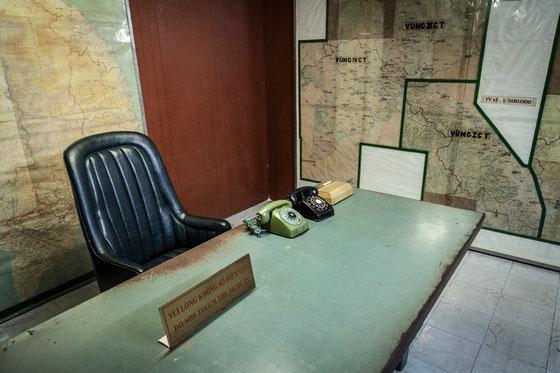 Sala de mapas del presidente, en el búnker