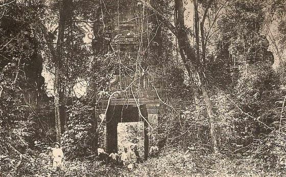 Templo Preah Khan, a principios del sigo XX.