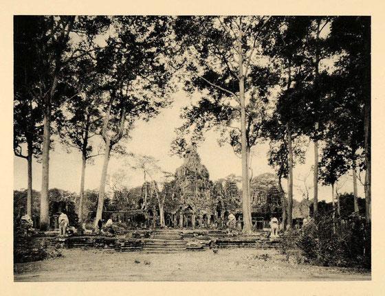 Templo Bayon, año 1929.