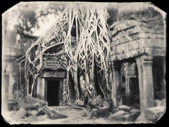 Templo Ta Prohm, a finales del siglo XiX