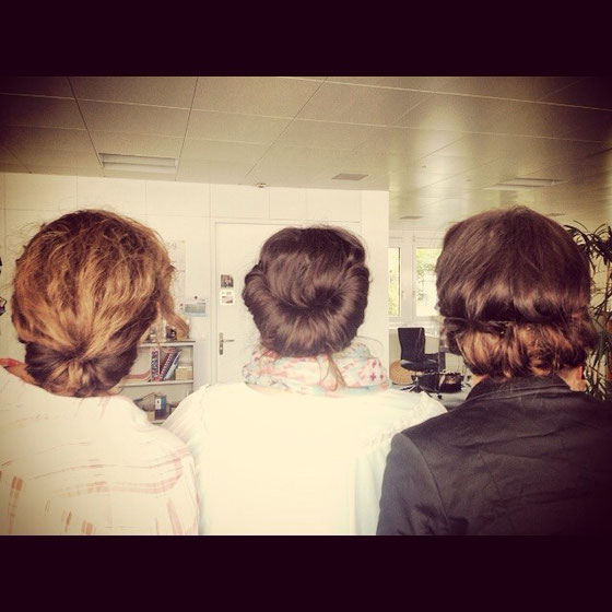 Montag - Vintagetag... Zufälligerweise eine ähnliche Frisur gehabt wie zwei andere Kolleginnen :-)